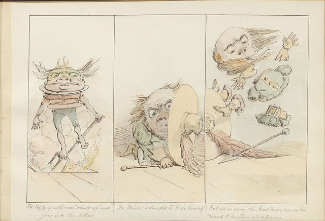 Pantomime as it was is and will be by Alfred Crowquill (aka Alfred H Forrester) - 1849 - (The ugly gentleman 'shuts up'...) - courtesy Harvard U