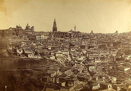 Panorámica de Toledo en 1857 ó 1858 por Charles Clifford