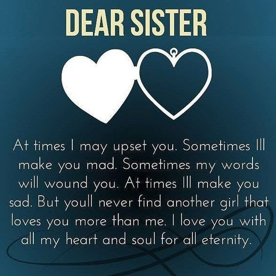 Dear Sister Pictures Photos And Images For Facebook Tumblr