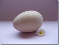 Natural Wood Egg Rattle