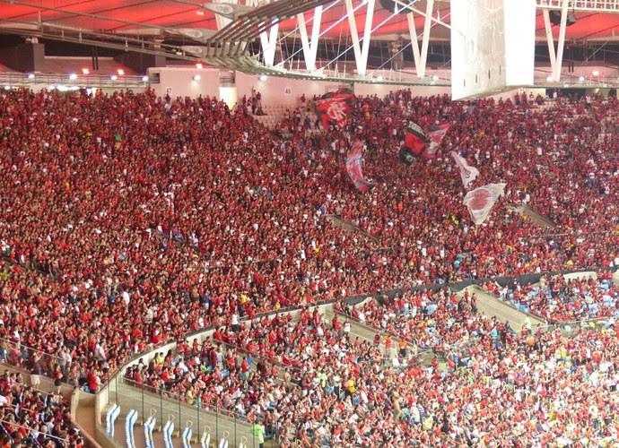 Torcida do Flamengo contra América-RN, Maracanã (Foto: Cahê Mota)