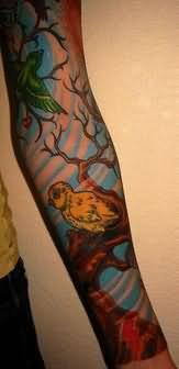 Cute Sleeve Tattoo Design