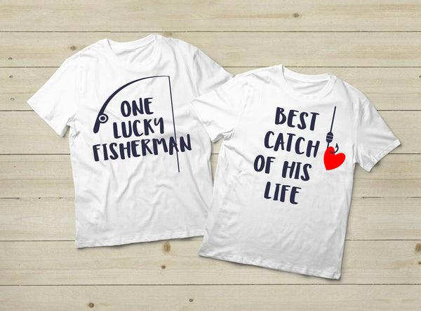 Download Fishing Couples Shirts Fisherman Love Gift White Matchizz
