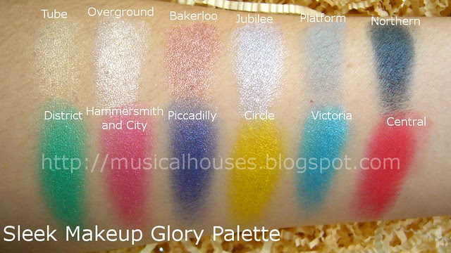 sleek glory palette swatches