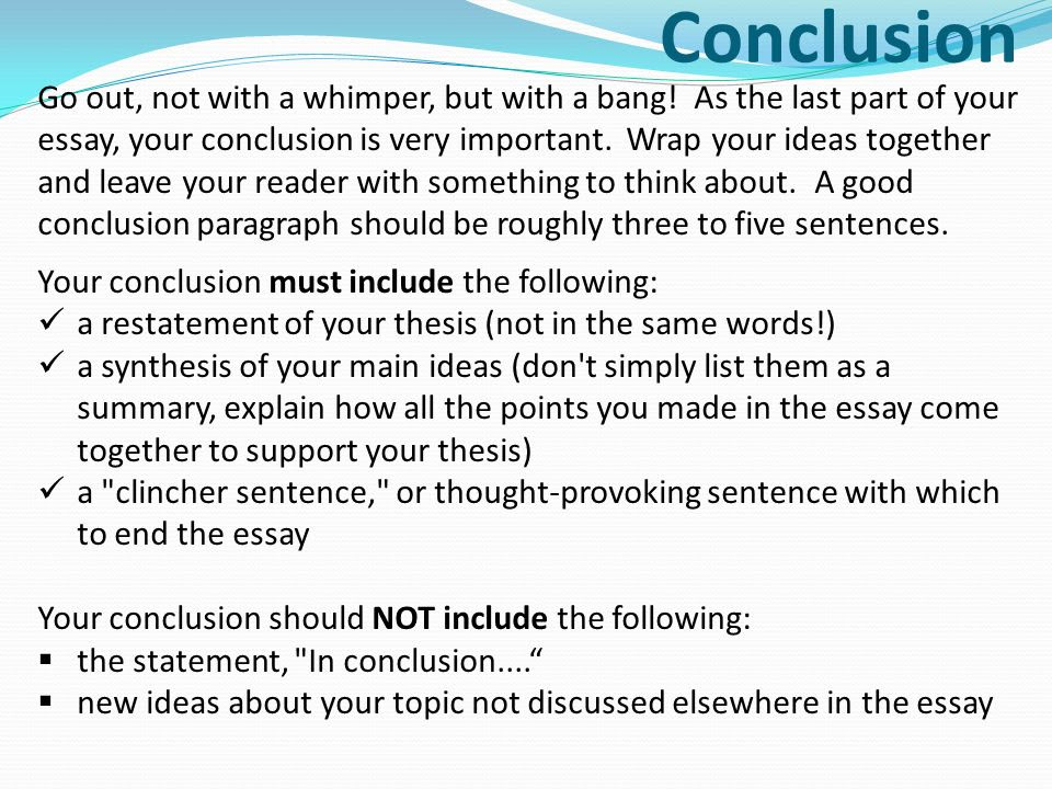 how to write a topic sentence for a synthesis essay