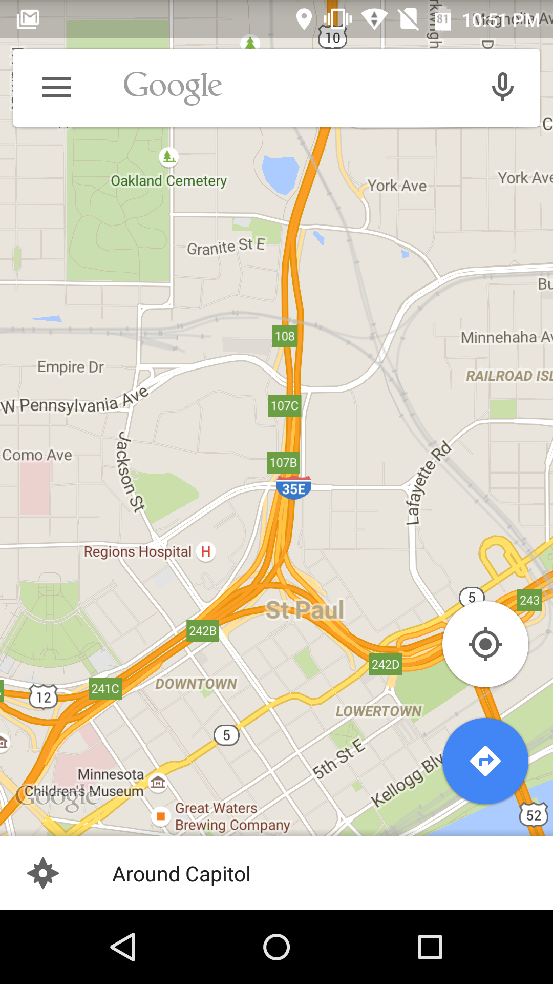 google maps v9.9 translucent status bar