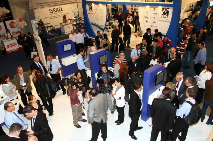 Scene from a past WATEC exhibition.