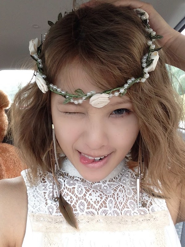 Floral head wreath Angelic look Flower girl