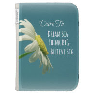 Inspirational Dare to Dream Big Quote Kindle Keyboard Case