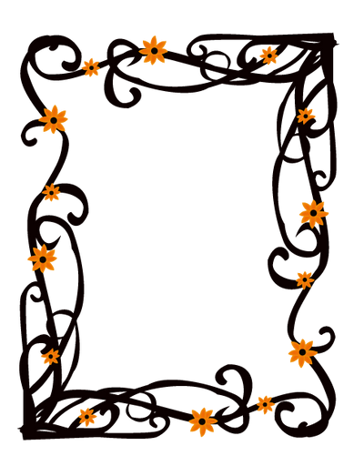 Elegant Floral Frame Border Vector by AngelaDesigns on