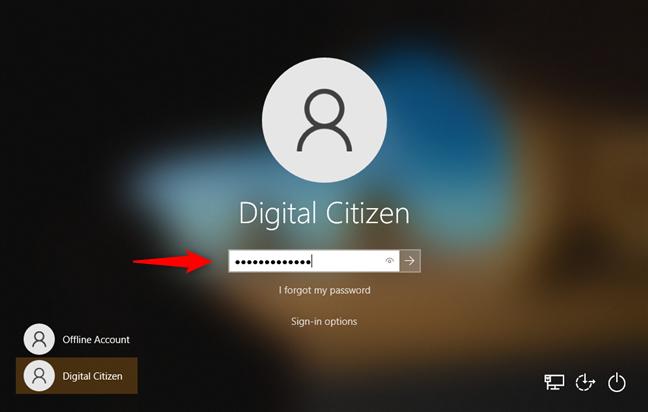 Opciones de inicio de sesión de Windows 10: contraseña