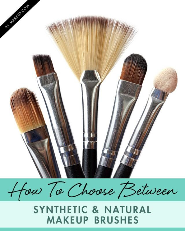Makeup brushes natural vs synthetic