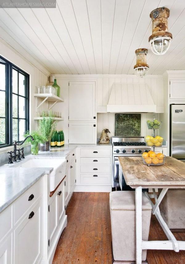 Shiplap in the Kitchen - Atlanta Homes