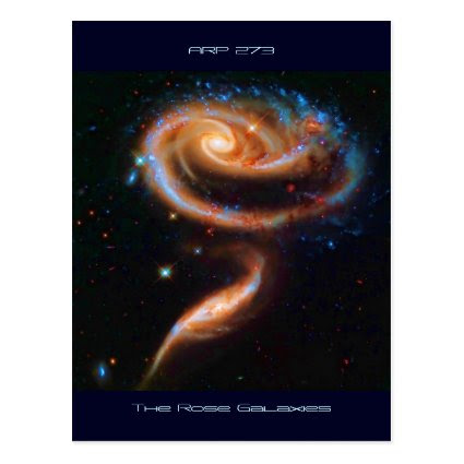 The Rose Galaxies, Arp 273 Post Card
