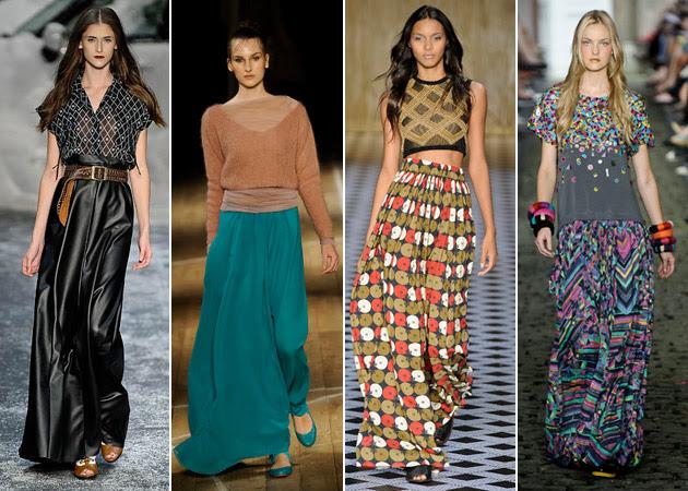 Saias longas tendências para 2015