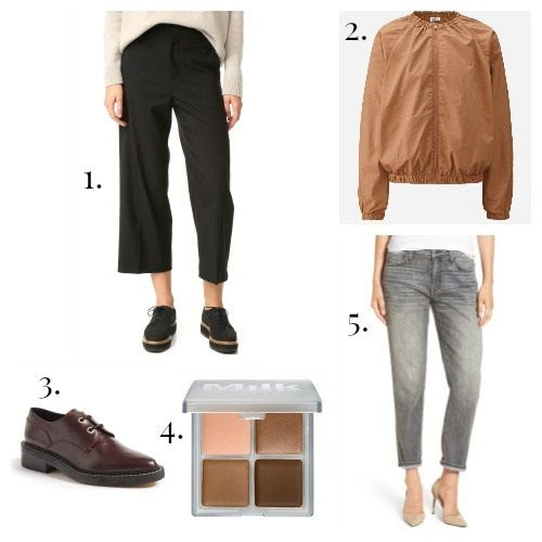 Vince Trousers - Uniqlo Top - Rag and Bone Shoes - Milk Makeup Eyeshadow - Current/Elliott Jeans