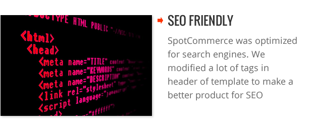 SEO friendly - SpotCommerce Blogger Shopping Template