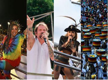 Sexta de Carnaval tem Anitta, Saulo, Harmonia, Olodum, Lazzo e Zelito