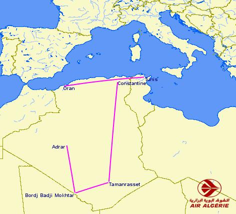 Air Algèrie Domestic Routes