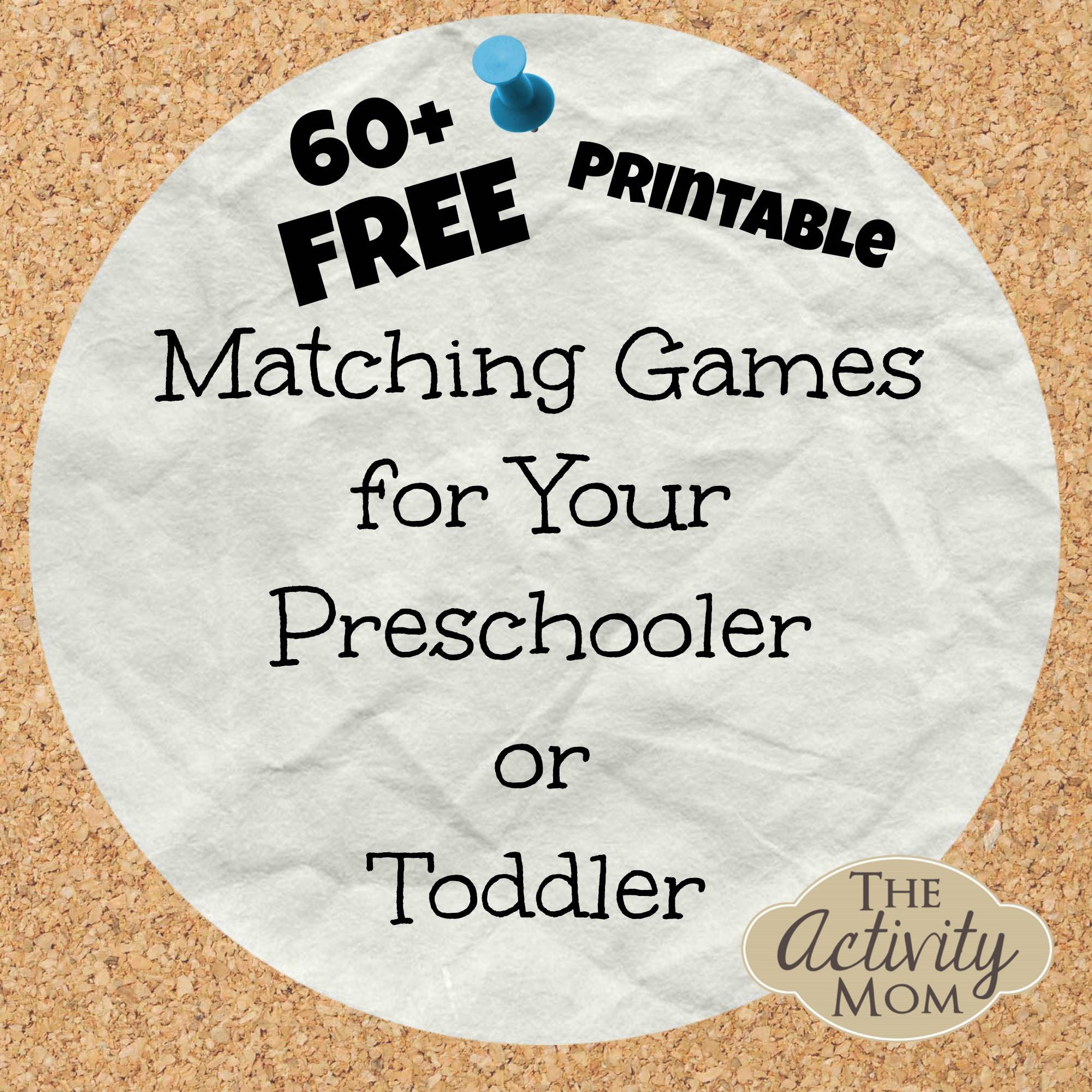 Free Printable Matching Games