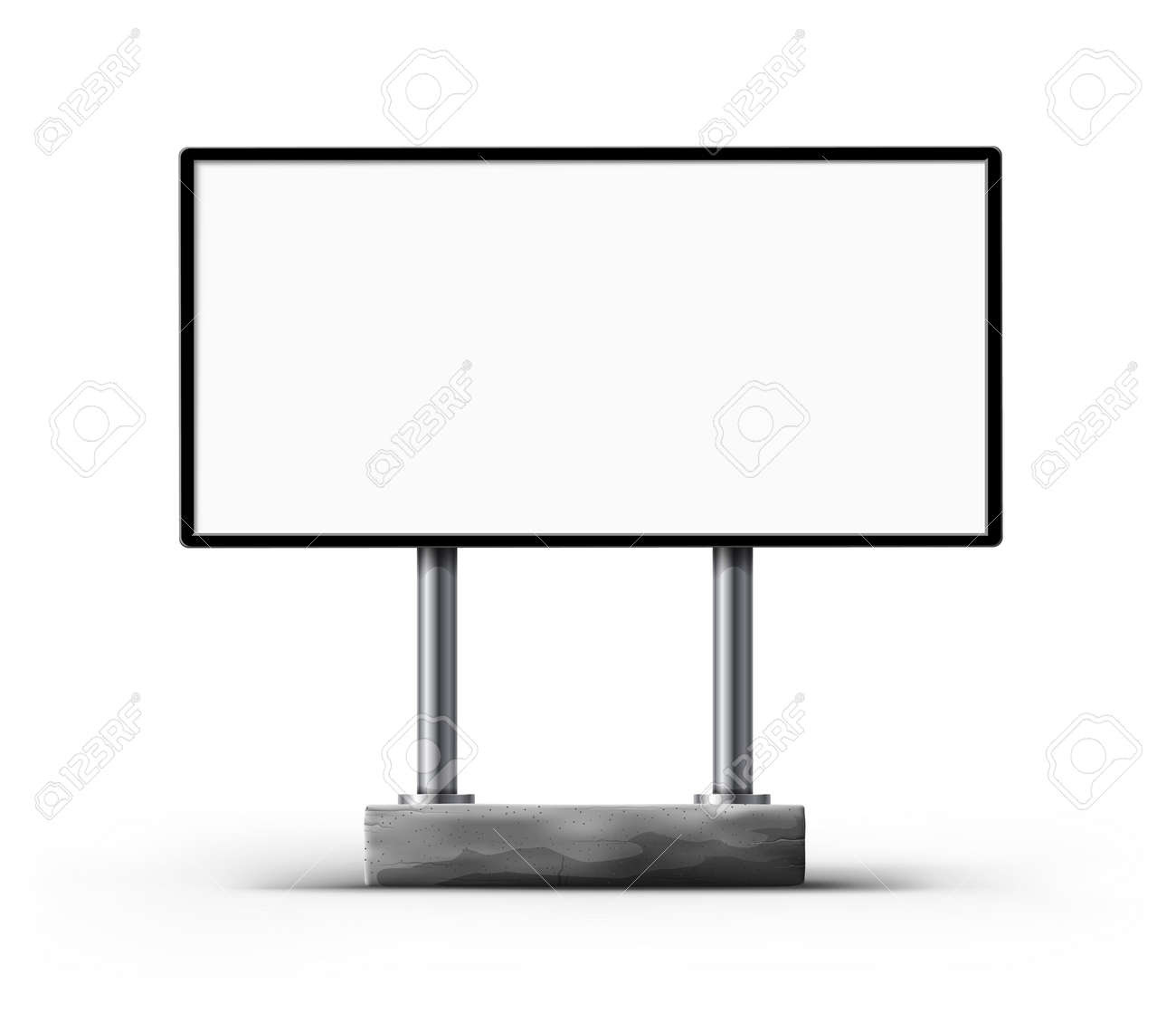 Blank Street Billboard Template For Outdoor Advertisment Design ...
