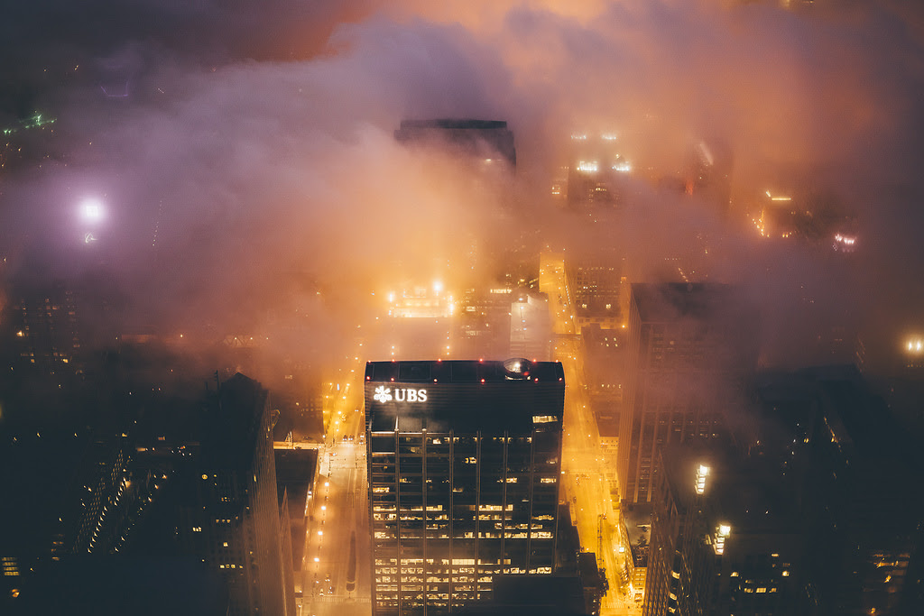 Chicago in the Fog by Michael Salisbury fog cityscapes Chicago