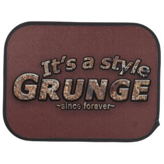 It's a style GRUNGE Rusty Letters Floor Mat, brown rust, rusted, car mat, floor mat, vehicle mat,