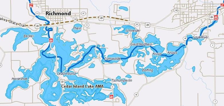 horseshoe chain of lakes map Zip Code Map Horseshoe Chain Of Lakes Map horseshoe chain of lakes map