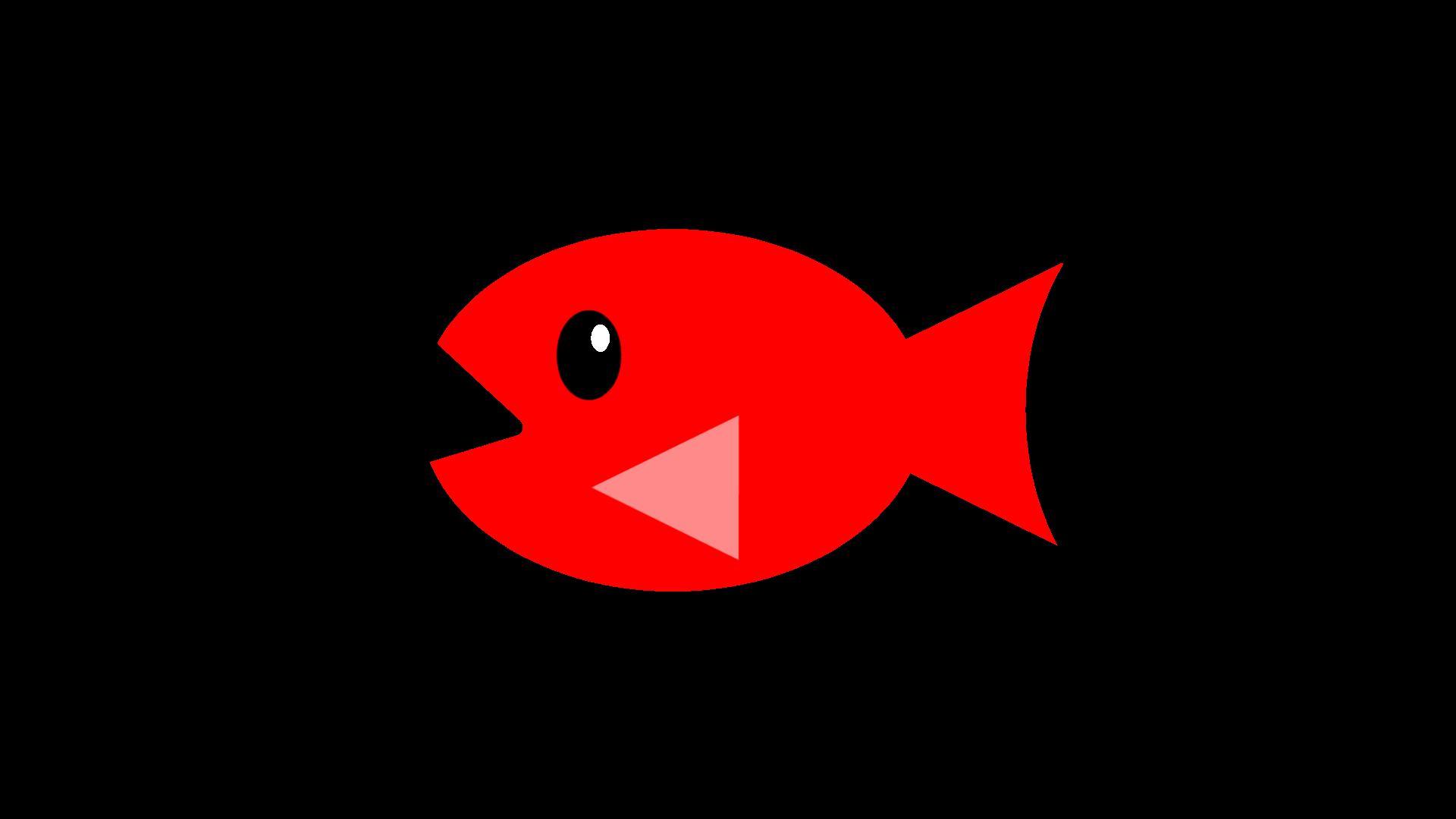 お魚のイラスト3種類単色塗りカラーグラデーションカラー各8色全48