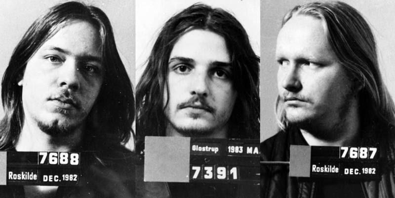 Rockere fra Black Sheep og senere HA, der alle blev dømt for mord. Fra venstre: Ole Bonnerup Nielsen (nu ude af HA), René Nøddeskov Ludvigsen alias Ludvig og Lars Søren Andersen alias Birk. (Politifoto)
