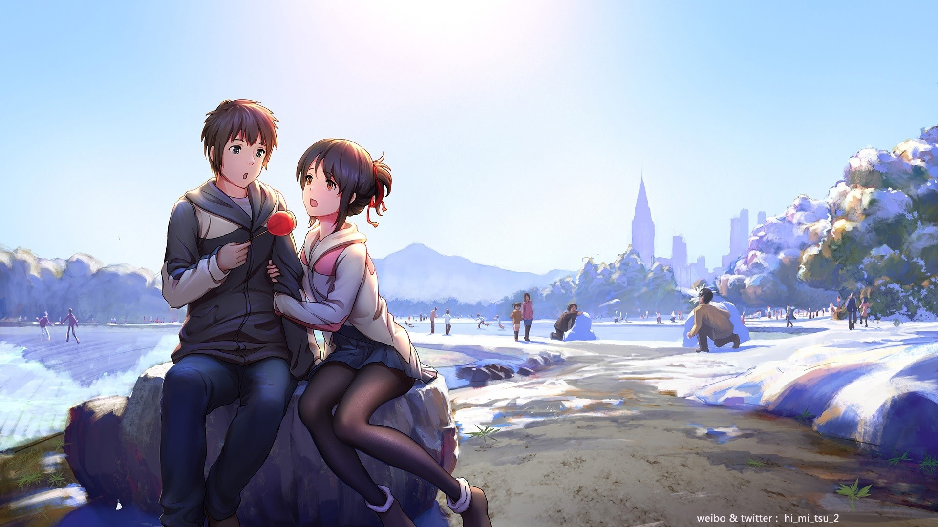 Wallpaper Anime Kimi No Na Wa Hd