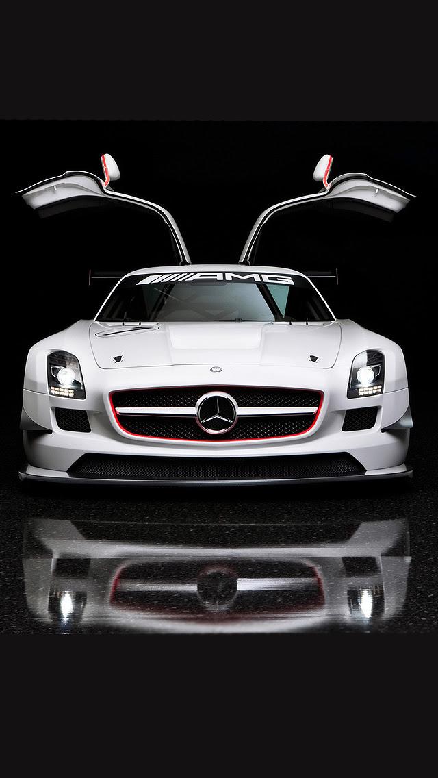 Mercedes Benz SLS AMG iPhone Wallpaper HD