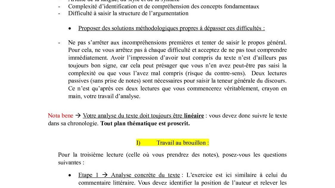 Exemple D Introduction Explication De Texte Philo ...