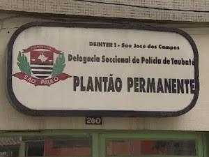 Delegacia em Taubaté (Foto: Reprodução/ TV Vanguarda)