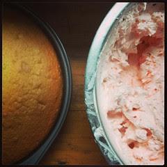 Making birthday cake