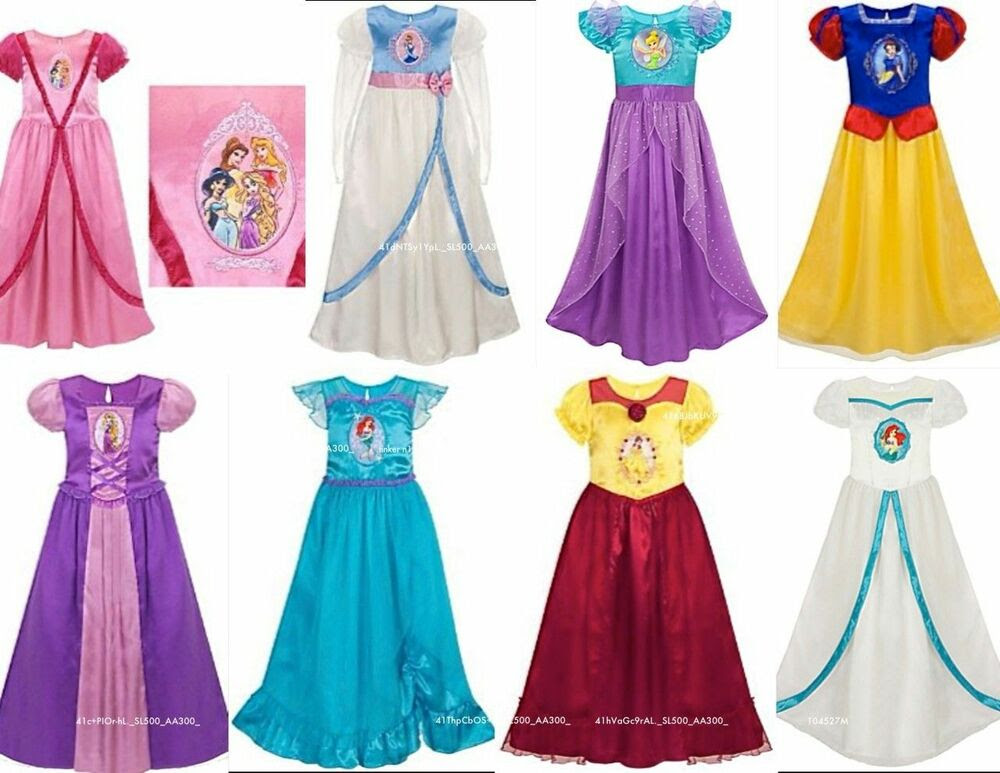 Disney All Princess Deluxe Nightgown Silky Fancy Costume ...