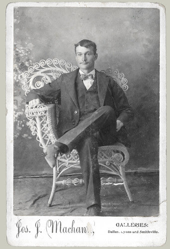 Seated Man cabinet card