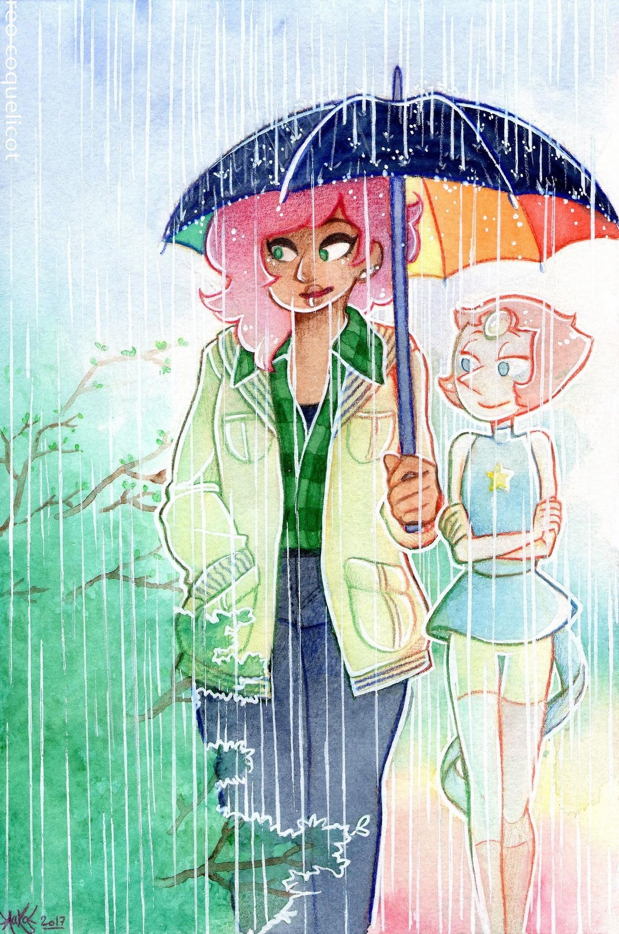 Spring ~    I swear I'm never drawing umbrellas again. (Says the girl whosefavorite romantic tropesinclude rain rip)