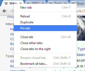Always accidentally close your important tabs? Pin them.