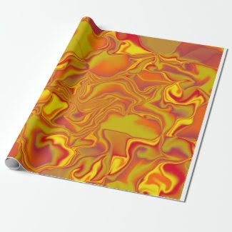 Autumn Colors Wave Gift Wrapping Paper