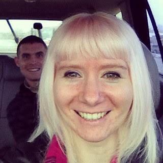 Day84 Us driving around town 3.25.13 #jessie365