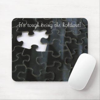 Missing Puzzle Piece mousepad