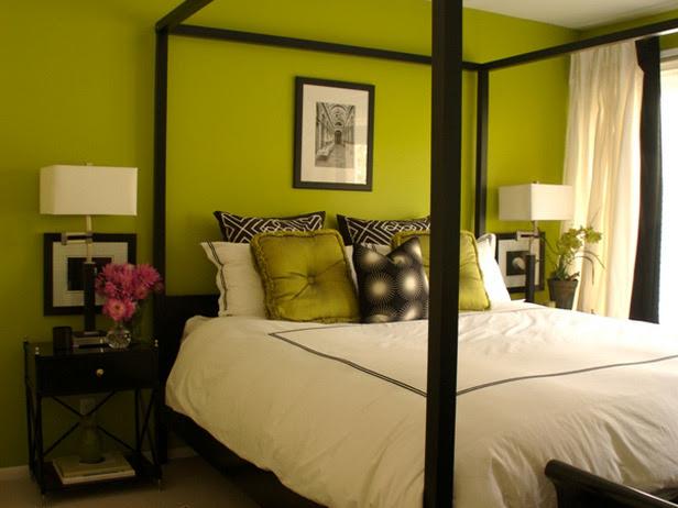 Erinn Valencich Green Bedroom