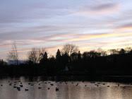 Sunset over Moffat Duck Pond