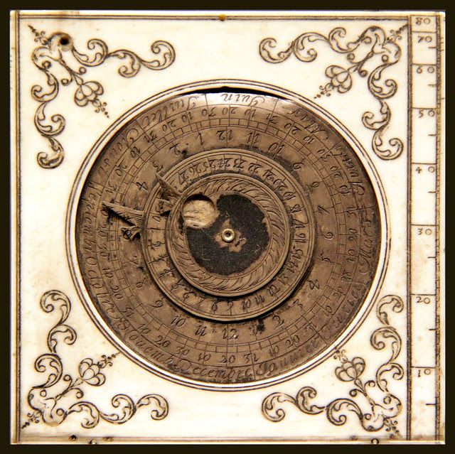 Part of sundial, by Charles Bloud, late 17c