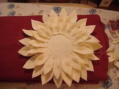 medium petals sewn on: I added 3 more petals