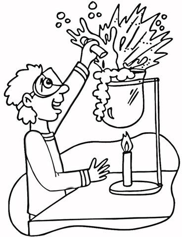 Dibujo De Laboratorio De Química Para Colorear Dibujos Para