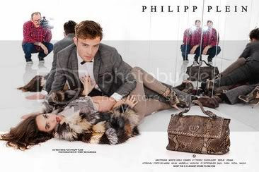 Ed Westwick for Philipp Plein Fall 2012 Ads