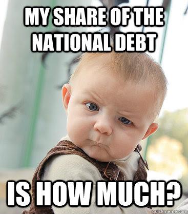 Image result for us debt meme