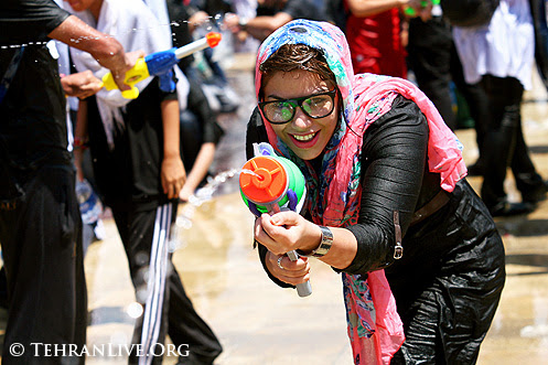Water Guns War in Tehran